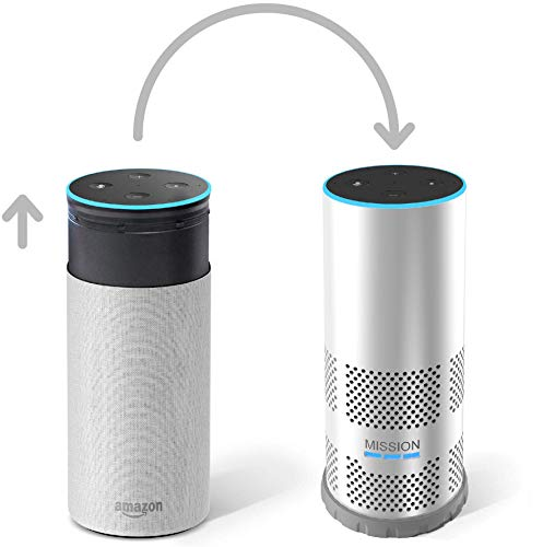 Mission Shell Battery Base for Amazon Echo 2nd Gen (Make your Echo Portable) (White Hardshell)