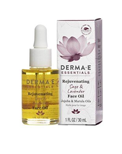 Sage & Lavender Face Oil with Jojoba and Marula Oils, 1 Fl oz (Derma E Oil)