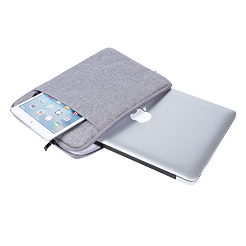 Laptop Sleeve, UBORSE Water Repellent Notebook Protective Bag Laptop Case Tablet Bag for 15-15.6 Inch Macbook Pro, Macbook Air, iPad, Notebook, Grey