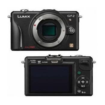 "Panasonic Lumix DMC-GF2KBODY 12.1 MP Compact System Camera Body with 3"" LCD Display"