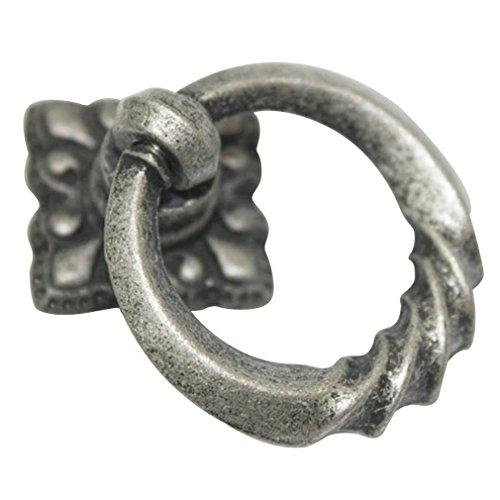JC Handle Antique Pewter 35mm Drop Ring Knobs Dresser Chest Cabinet Drawer Pulls