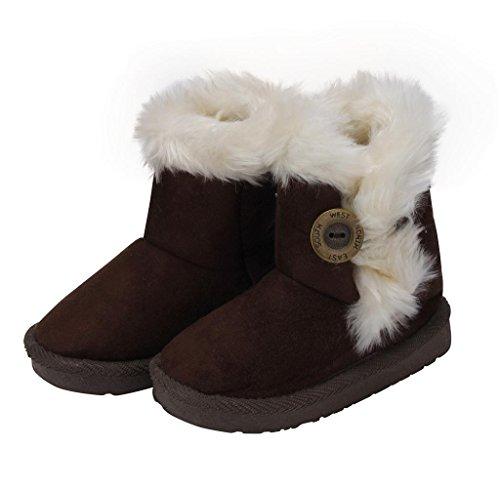 Kinder Baby Mädchen Stiefel Schneestiefel Covermason Winter Warm Schuhe Kaffee