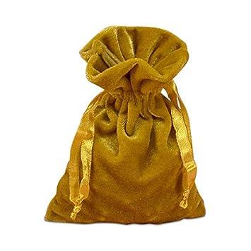 Amazon.com: Oro bolsas de tela de terciopelo – 20 de cada de ...
