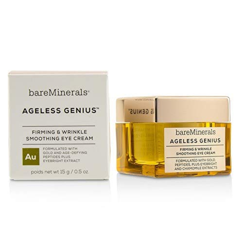 (bareMinerals Ageless Genius Firming and Wrinkle Smoothing Eye Cream, 0.5 Ounce)