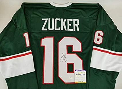 Jason Zucker Autographed Jersey Custom Tse Coa 2 Autographed