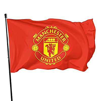 HZIJUE Manchester United 3x5 Foot Polyester Flag Vivid Color with Brass Grommets