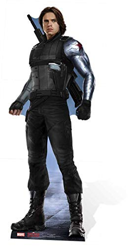 Star Cutouts Official Marvel Avengers Movie Lifesize Cardboard Cut Out of Bucky Barnes/ The Winter Soldier (Sebastian Stan) 183cm Tall 71cm Wide.