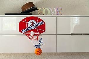"Slam Dunk Mini Basketball Hoop Set 3 Balls /& Ball Pump Simple Assembly Over The Door Plastic Toy Backboard 14 X 10/"" w// Net Hanger Mount Game for Kids Children or Adults Big /& Beautiful hg556"