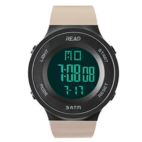 READ Reloj Deportivo, Impermeable, Fecha automática, cronógrafo, Alarma, Fecha automática,