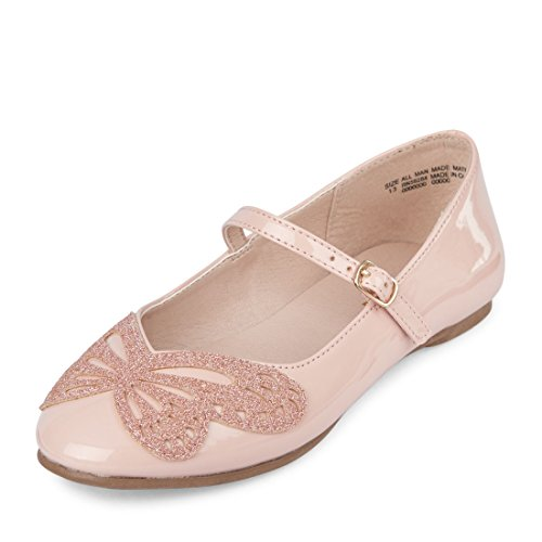 The Children's Place Girls' BG BTTRFLY Avery Ballet Flat Pink Youth 3 Youth US Big Kid -