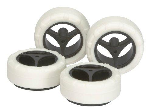 スーパーX・XXカーボン小径ナローホイール&ハードタイヤ(白) 限定商品「ミニ四駆グレードアップパーツシリーズ」[94749]