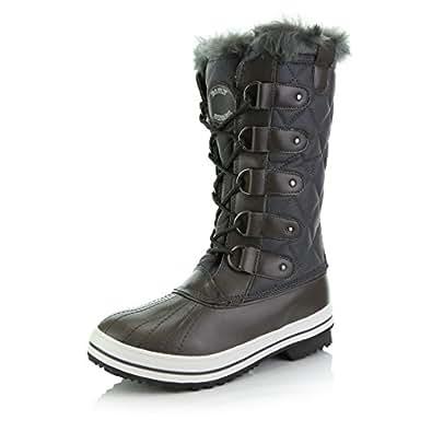 Amazon.com | DailyShoes Women's Mid Calf Arctic Warm Fur