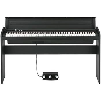 korg lp180bk 88 key lifestyle piano black musical instruments. Black Bedroom Furniture Sets. Home Design Ideas