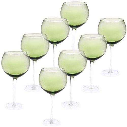 Green Wine Glasses (Certified International Red Wine Stemware Glass (Set of 8), 28 oz, Olive)