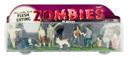 Accoutrements Glow In The Dark Flesh Eating Zombies Play -