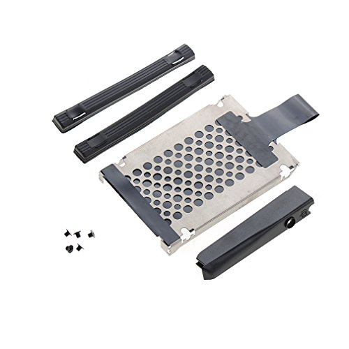 Asdomo Hard Disk Driver Cover Rubber Rails Caddy Screws for IBM Lenovo Thinkpad X200 T60 T61 T400 R60 Laptop