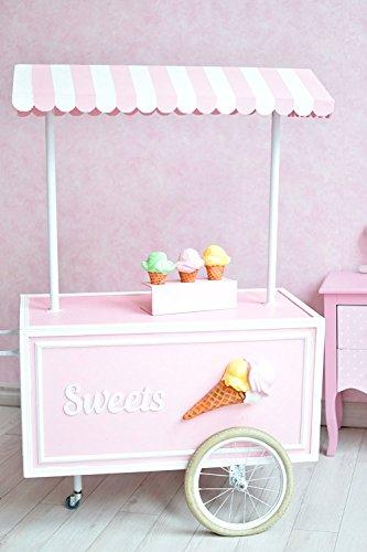 PHSFUBEL Ice Cream Party Backdrops Photo Booth Birthday Photoshoot -