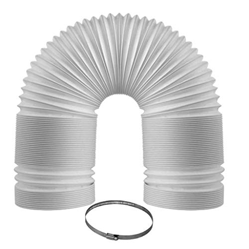 Easy Breeze Portable Air Conditioner Exhaust Hose 5' Diameter 59' Length Counterclockwise Thread Extra Durable - Universal Fit Replacement for Portable Air Conditioners