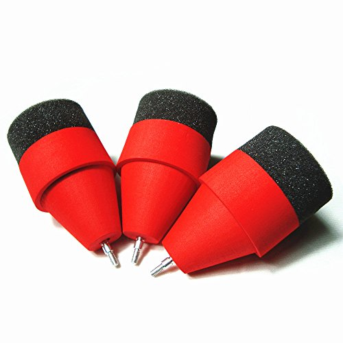 Archery Arrowheads, MS Jumpper Soft Sponge Foam Arrow heads Game Practice Broadheads Tips For Archery CS Shooting Sport (Red 6 Pcs)