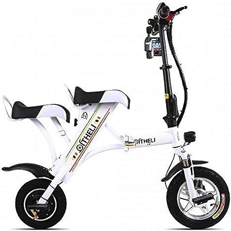 Bonheur Scooter de pequeña Plegable Bicicleta eléctrica Mini Mujer ...