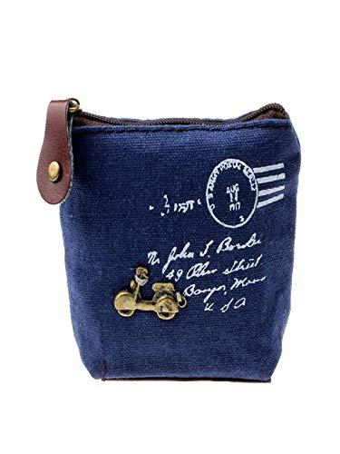 (LiLiMeng Girl Retro Coin Bag Purse Wallet Card Case Handbag Gift Motorcycle BU)