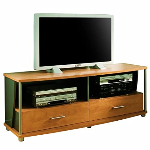 South Shore Furniture City Life Collection 50-Inch TV Stand, Honeydew and Charcoal - Cherry Finished Tv Stand