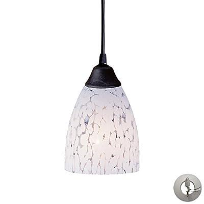 ELK 406-1SW-LA, Classico Mini Blown Glass Cone Pendant, 1 Light, Dark Rust
