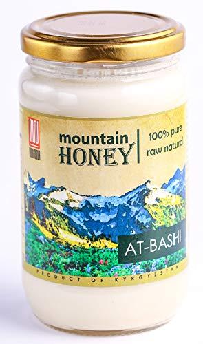 Wild Sage Honey - Kyrgyz White Honey; At-Bashi Raw Natural Wildflower Mountain Honey; 15.87 Ounce Glass Jar