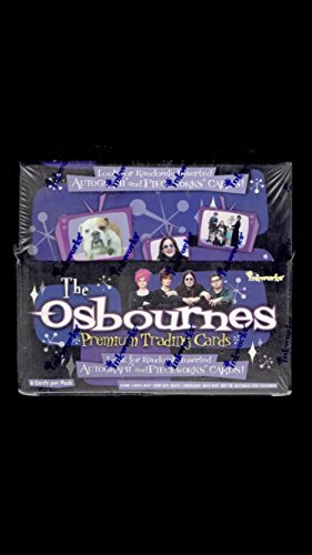Box of 2002 The Osbournes TV Show sealed trading cards unopened box (36) packs inserts autographs ozzy Sharon Kelly jack non-sport cards (Trading Card Tv Show)