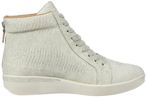 Gentle Souls Womens Helka Hightop Lace-up Sneaker Silver SXTF6H