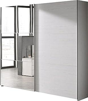 Comforium Armario 200 x 216 cm con 2 Puertas correderas Don 1 con Espejo, Color Roble: Amazon.es: Hogar