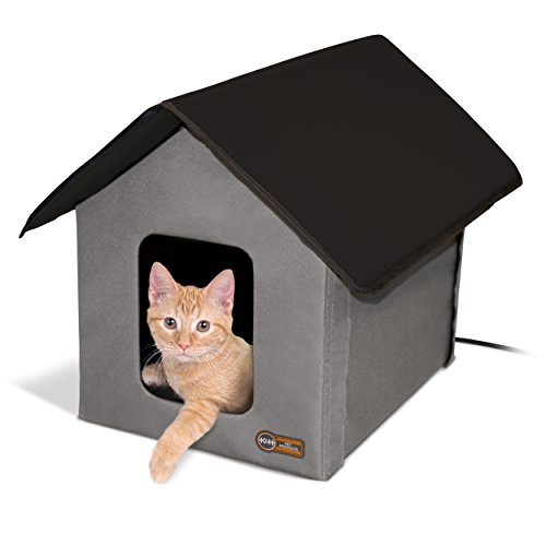 K&H Manufacturing Outdoor Kitty House, 18 x 22 x 17-Inches, Heated - (Dog Heated House)