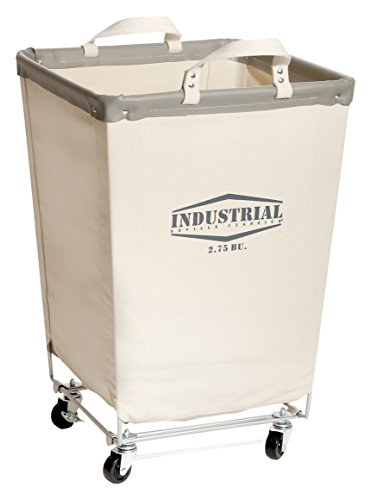 Seville Classics Commercial Heavy-Duty Canvas Laundry Hamper with (Heavy Duty Canvas Wheel)