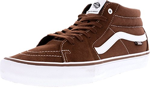 Vans Mens Sk8-Mid Pro Cappuccino Ankle-High Leather Skateboarding Shoe - 13M ipuIm