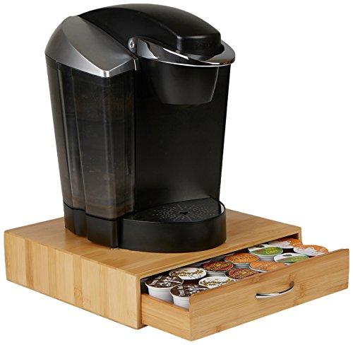 - Mind Reader 36 Capacity Bamboo K-Cup Single Serve Coffee Pod Storage Drawer Organizer, Brown