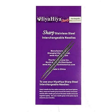 HiyaHiya Interchangeable Needle Tips 5-inch (13cm) Sharp Steel; Size US 6 (4mm) HISSTINTIP5-6 The KnittingZone Inc.