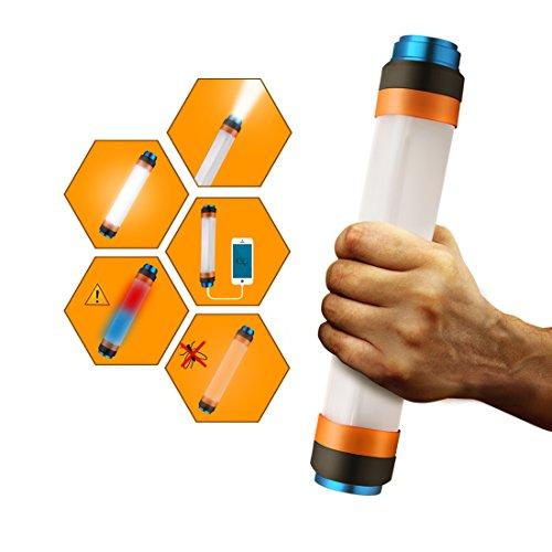 M6 Led Lithium Flashlight (Kimitech led flashlight camping lantern Mosquito Repellent Power Bank light tube Adjustable Brightness)