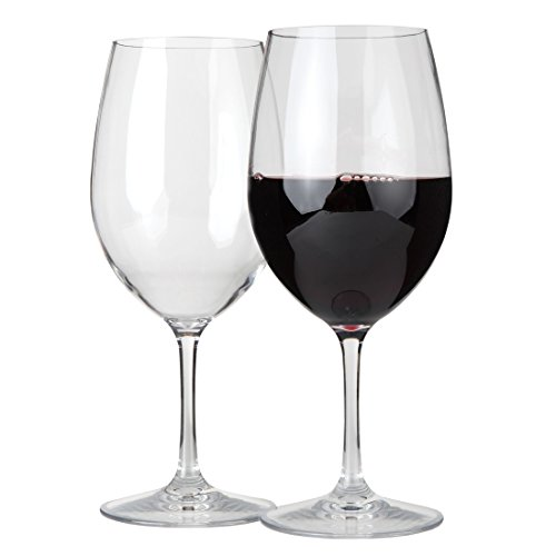 Lily's Home Unbreakable Indoor / Outdoor Cabernet / Merlot Wine Glasses, Shatterproof and Reusable. Set of 2. (Wine Glasses Wholesale)
