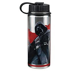 Vandor 99009 Star Wars Dark Side 18 Ounce Vacuum Insulated Stainless Steel Bottle, Silver