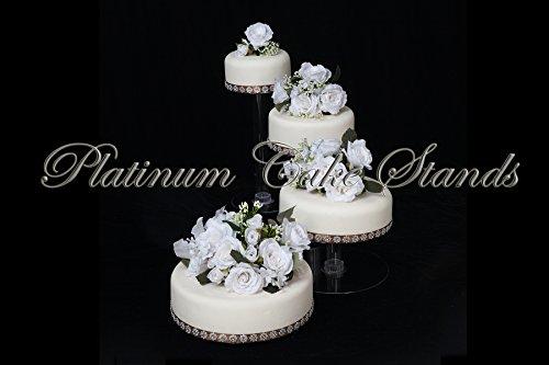 4 Tier Cascade (4 Tier Clear Spiral Cascade Wedding Cake Stand (STYLE 400-B))