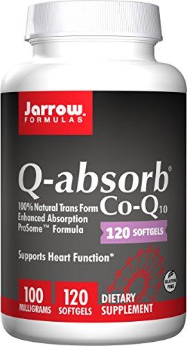Jarrow Formulas Q absorber Co-Q10, apoya la función del corazón, 100 mg, 120 cápsulas