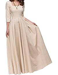 Womens Vintage Evening Elegant Long Dress