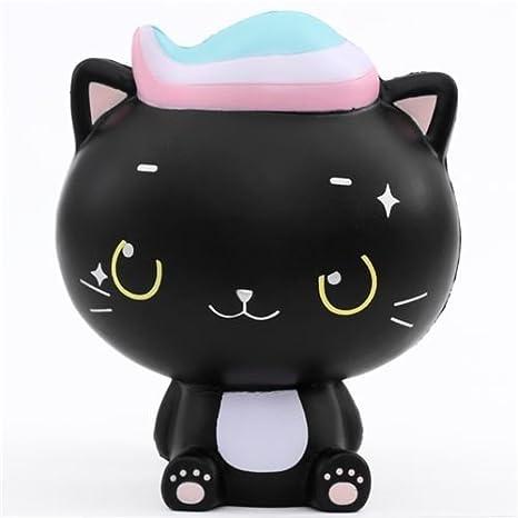 Amazon.com: Scented jumbo black cat Minty Luna squishy by ...
