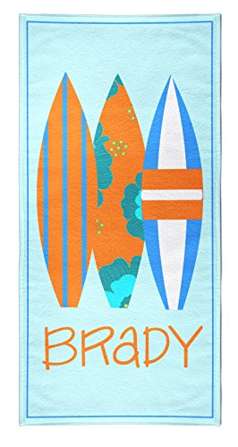 Tin Tree Gifts Customized Beach Towel Surfer