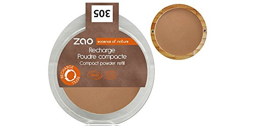 ZAO REFILL Compact Powder 305 milchschokolade braun Kompaktpuder-Nachfüller (bio, vegan) 111305