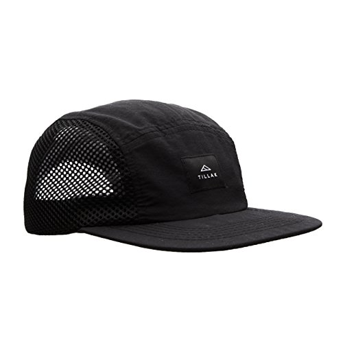 Tillak Wallowa Trail Hat, a Lightweight Nylon and Mesh 5 Panel Cap (Black)