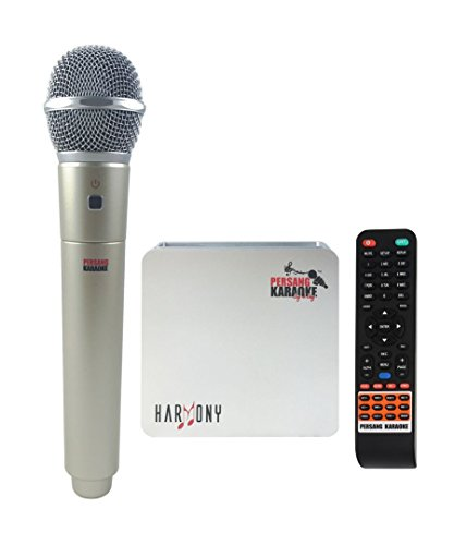 Persang Karaoke Harmony PK 8166 Portable Karaoke with 7145 Songs  Hindi 2755  and one Wireless   one Wired Microphone