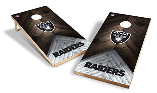 Wild Sports NFL 2'x4' Oakland Raiders Cornhole Set