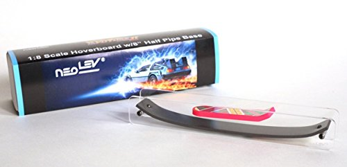 "Back to the Future 1:8 Scale Hoverboard (Fingerboard) with 8"" Half Pipe (Back To Future Hoverboard)"