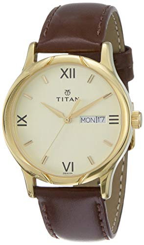 Titan Karishma Analog Champagne Dial Men's Watch NM1580YL05/NN1580YL05